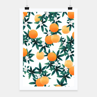 Orange Twist Flower Vibes #2 #tropical #fruit #decor #art Plakat obraz miniatury