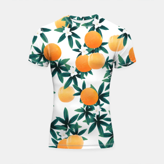 Orange Twist Flower Vibes #2 #tropical #fruit #decor #art Shortsleeve rashguard obraz miniatury
