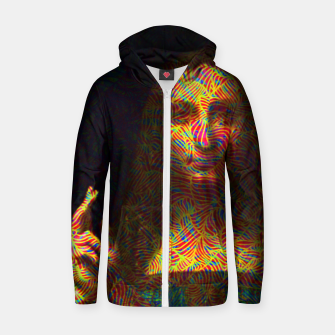 Thumbnail image of Salvator Mundi Zip up hoodie, Live Heroes