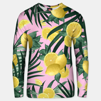 Summer Lemon Twist Jungle #6 #tropical #decor #art Unisex sweatshirt obraz miniatury