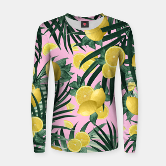 Summer Lemon Twist Jungle #6 #tropical #decor #art Frauen sweatshirt obraz miniatury