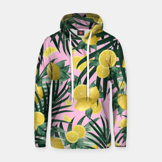 Summer Lemon Twist Jungle #6 #tropical #decor #art Kapuzenpullover obraz miniatury