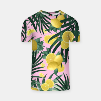 Summer Lemon Twist Jungle #6 #tropical #decor #art T-Shirt obraz miniatury