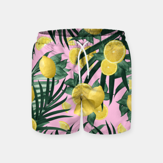 Summer Lemon Twist Jungle #6 #tropical #decor #art Badeshorts obraz miniatury