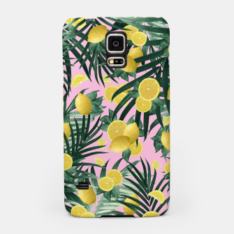 Miniaturka Summer Lemon Twist Jungle #6 #tropical #decor #art Handyhülle für Samsung, Live Heroes