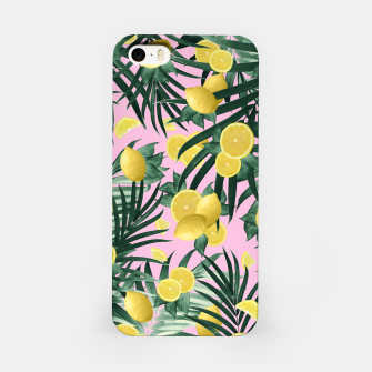 Miniaturka Summer Lemon Twist Jungle #6 #tropical #decor #art iPhone-Hülle, Live Heroes