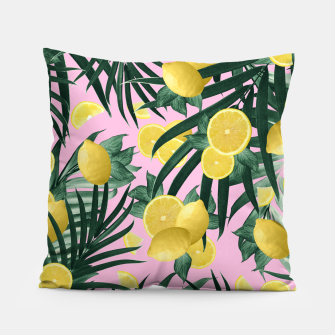 Summer Lemon Twist Jungle #6 #tropical #decor #art Kissen obraz miniatury