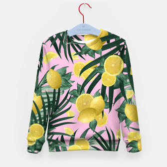 Summer Lemon Twist Jungle #6 #tropical #decor #art Kindersweatshirt obraz miniatury