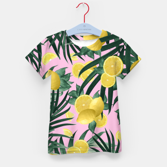 Summer Lemon Twist Jungle #6 #tropical #decor #art T-Shirt für kinder obraz miniatury
