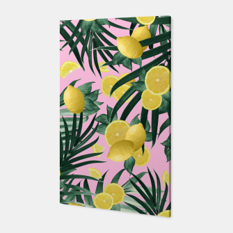 Summer Lemon Twist Jungle #6 #tropical #decor #art Canvas obraz miniatury