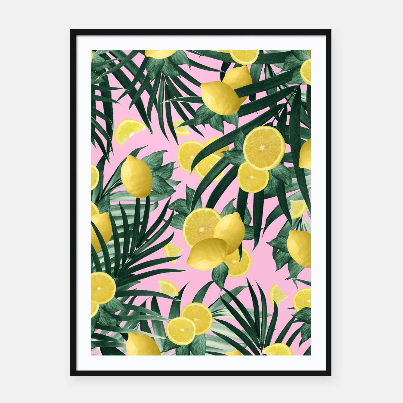 Zdjęcie Summer Lemon Twist Jungle #6 #tropical #decor #art Plakat mit rahmen - Live Heroes