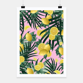 Summer Lemon Twist Jungle #6 #tropical #decor #art Plakat obraz miniatury