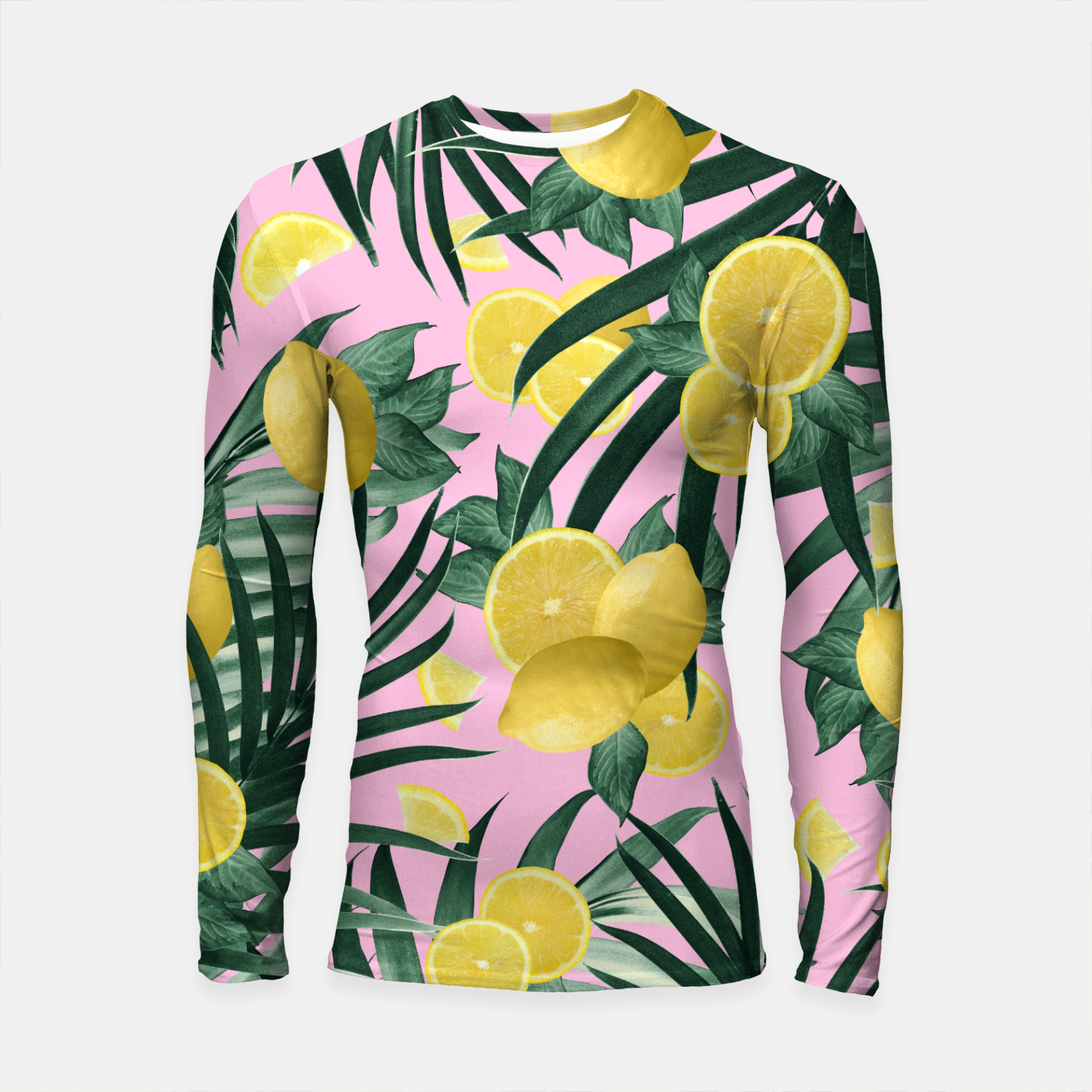 Zdjęcie Summer Lemon Twist Jungle #6 #tropical #decor #art Longsleeve rashguard - Live Heroes
