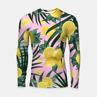 Summer Lemon Twist Jungle #6 #tropical #decor #art Longsleeve rashguard obraz miniatury