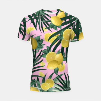 Miniaturka Summer Lemon Twist Jungle #6 #tropical #decor #art Shortsleeve rashguard, Live Heroes