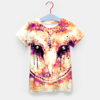 Thumbnail image of barn owl wsls Kid's t-shirt, Live Heroes