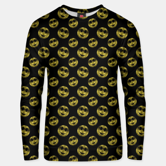 Miniaturka Sparkly Smiley face Gold black pattern Unisex sweater, Live Heroes