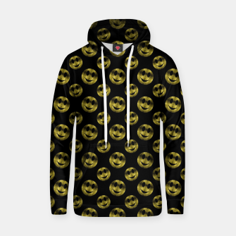 Miniaturka Sparkly Smiley face Gold black pattern Hoodie, Live Heroes
