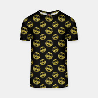 Miniaturka Sparkly Smiley face Gold black pattern T-shirt, Live Heroes