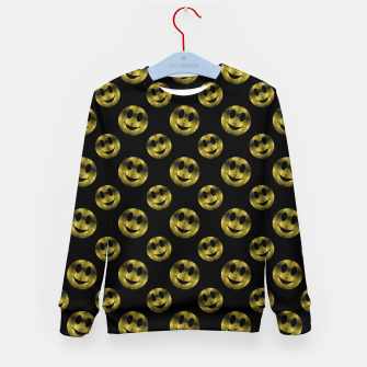 Miniaturka Sparkly Smiley face Gold black pattern Kid's sweater, Live Heroes