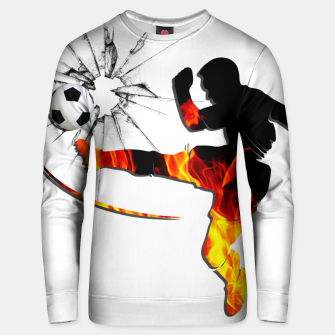 Thumbnail image of Fire and passion that break barriers Unisex sweater, Live Heroes