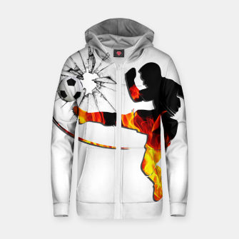 Thumbnail image of Fire and passion that break barriers Zip up hoodie, Live Heroes