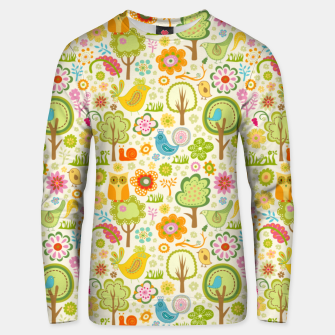 Miniaturka Birds, Trees and a Snail Unisex sweater, Live Heroes