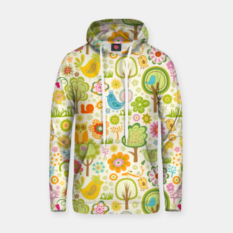 Thumbnail image of Birds, Trees and a Snail Hoodie, Live Heroes
