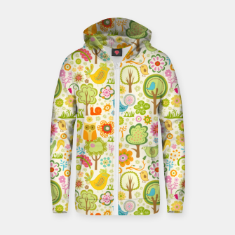 Thumbnail image of Birds, Trees and a Snail Zip up hoodie, Live Heroes