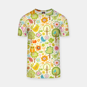 Thumbnail image of Birds, Trees and a Snail T-shirt, Live Heroes