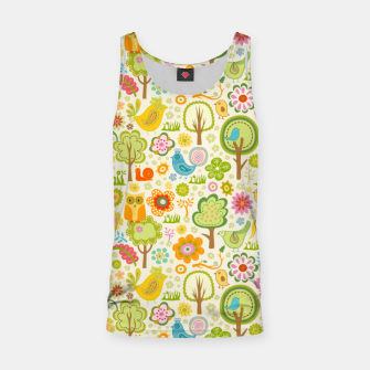 Thumbnail image of Birds, Trees and a Snail Tank Top, Live Heroes
