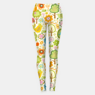 Thumbnail image of Birds, Trees and a Snail Leggings, Live Heroes
