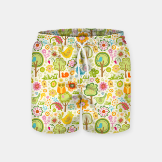 Thumbnail image of Birds, Trees and a Snail Swim Shorts, Live Heroes