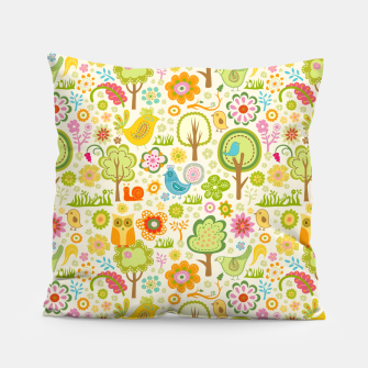 Thumbnail image of Birds, Trees and a Snail Pillow, Live Heroes