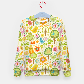 Thumbnail image of Birds, Trees and a Snail Kid's sweater, Live Heroes