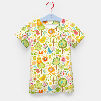 Thumbnail image of Birds, Trees and a Snail Kid's t-shirt, Live Heroes