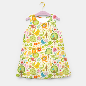 Thumbnail image of Birds, Trees and a Snail Girl's summer dress, Live Heroes