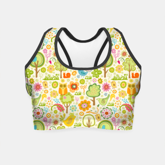 Thumbnail image of Birds, Trees and a Snail Crop Top, Live Heroes
