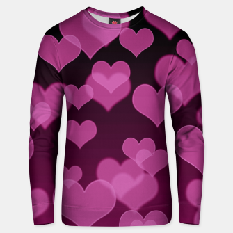 Thumbnail image of Pale Pink Hearts Design Unisex sweater, Live Heroes