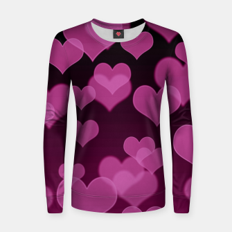 Thumbnail image of Pale Pink Hearts Design Women sweater, Live Heroes