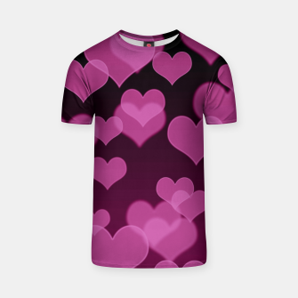 Thumbnail image of Pale Pink Hearts Design T-shirt, Live Heroes