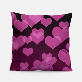 Thumbnail image of Pale Pink Hearts Design Pillow, Live Heroes