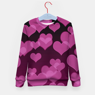 Thumbnail image of Pale Pink Hearts Design Kid's sweater, Live Heroes