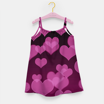 Thumbnail image of Pale Pink Hearts Design Girl's dress, Live Heroes