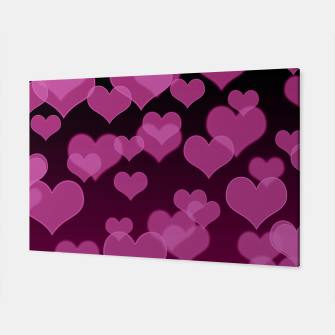 Thumbnail image of Pale Pink Hearts Design Canvas, Live Heroes