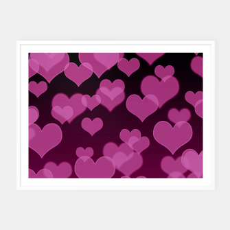 Thumbnail image of Pale Pink Hearts Design Framed poster, Live Heroes