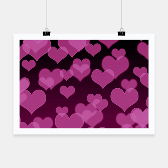 Thumbnail image of Pale Pink Hearts Design Poster, Live Heroes