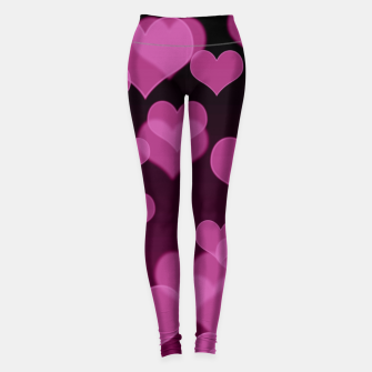 Thumbnail image of Pale Pink Hearts Design Leggings, Live Heroes