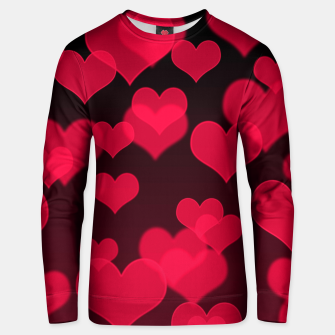 Thumbnail image of Raspberry Red Hearts Design Unisex sweater, Live Heroes