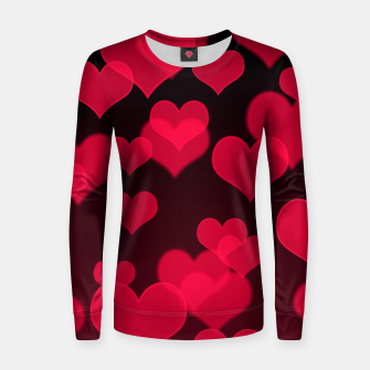 Thumbnail image of Raspberry Red Hearts Design Women sweater, Live Heroes